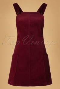 Bright and Beatiful Lena Pinafor Dress in Burgundy 18814 20160531 0006W