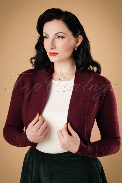 Collectif Clothing Jean Bolero in Wine 18889 20160601 010W