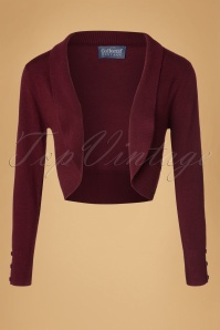Collectif Clothing Jean Bolero in Wine 18889 20160601 0001W