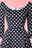 Collectif Clothing Willow Polkadot Navy Blue Swing Dress 102 39 16122 20150921 0018V