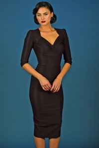 50s Loma Pencil Dress in Black