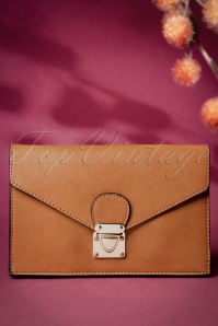 70s Lorene Envelope Clutch in Cognac