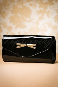 La Parisienne Black Patent Bow Bag 210 10 19911 20160920 0026W