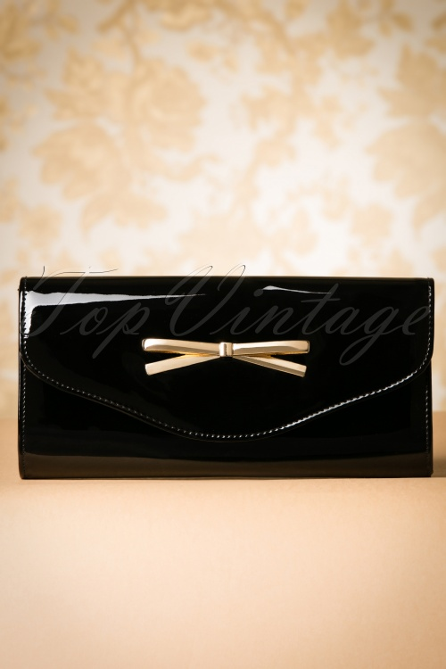 La Parisienne Black Patent Bow Bag 210 10 19911 20160920 0018W