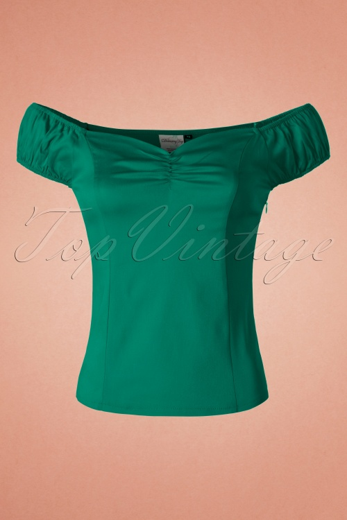 Dancing Days by Banned Winnie Top in Dark Green 110 40 19774 20160922 0008W