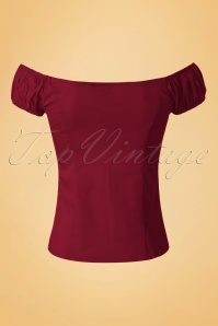 Dancing Days by Banned Winnie Top in Burgundy 110 20 19733 20160922 0009W
