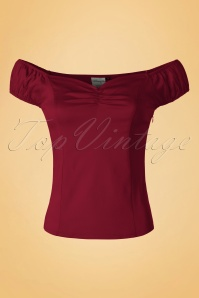 Dancing Days by Banned Winnie Top in Burgundy 110 20 19733 20160922 0008W