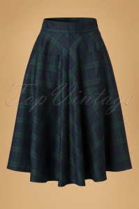 Dancing Days by Banned Apple of my Eye Swing Skirt in Green and Blue 122 49 19709 20160922 0014W