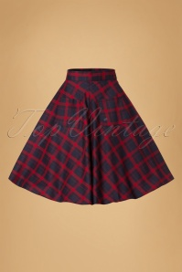 Dancing Days by Banned Apple of my Eye Swing Skirt in Red and Blue 122 39 19707 20160922 0005W