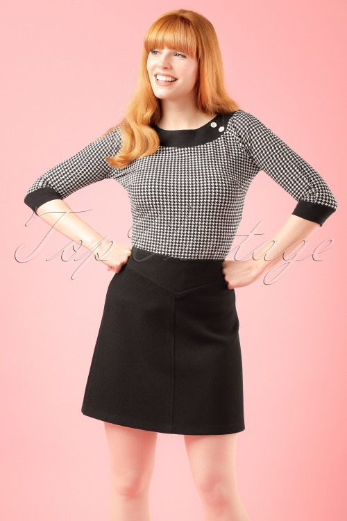 Abricot Jupe Conventry Black Skirt modelfoto cropw