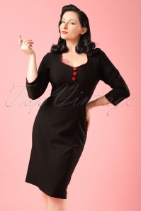 Hulahup Black Pencil Dress  Modelfoto cropW