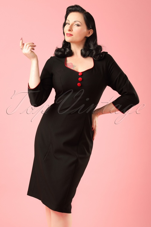 Hulahup Black Pencil Dress  Modelfoto cropW