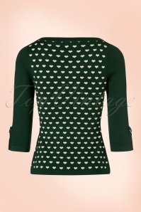Dancing Days by Banned Charming Hearts Sweater in Forest Green 113 49 19754 20160922 0012W