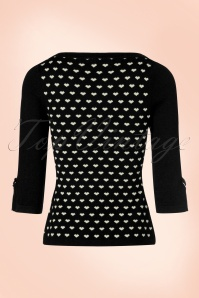Dancing Days by Banned Charming Hearts Sweater in Black 113 14 19755 20160922 0006w
