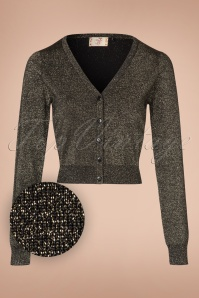 60s A Starry Night Cardigan in Gold