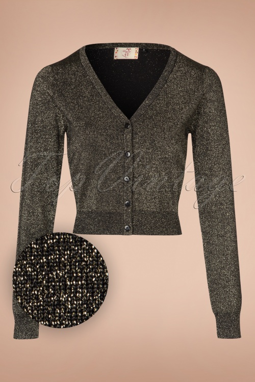 Dancing Days by Banned A Starry Night Cardigan in Gold 140 91 19759 20160922 0005W1