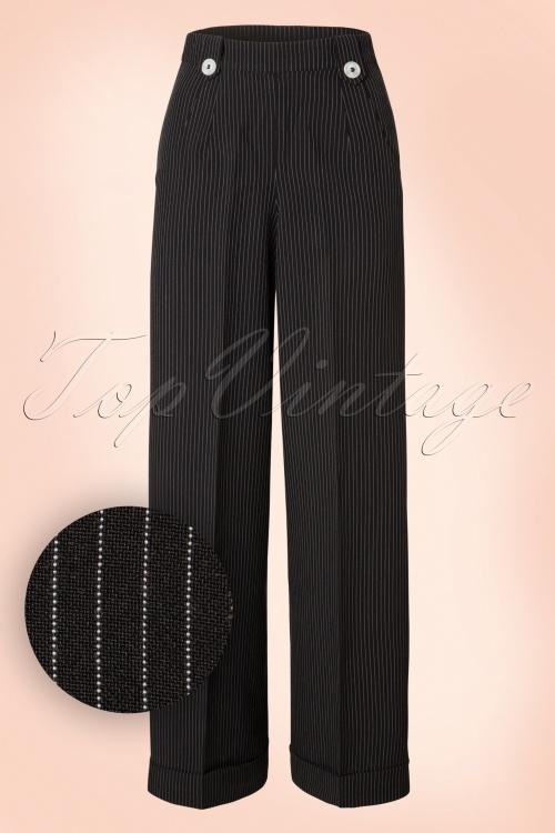 Dancing Days by Banned Black with White Stripes Trousers 131 10 19973 20160922 0008W1