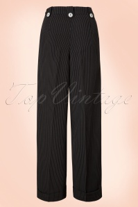 Dancing Days by Banned Black with White Stripes Trousers 131 10 19973 20160922 0003W