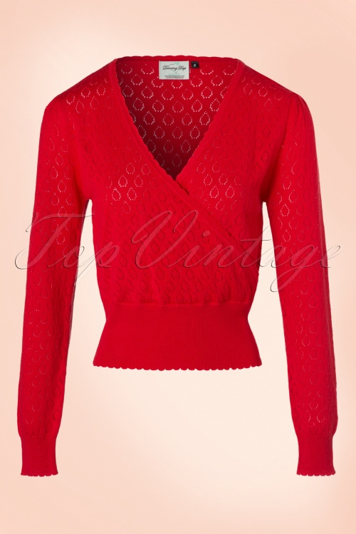 Dancing Days by Banned Red Long Sleeves Sweater 113 20 18732 20160922 0007W