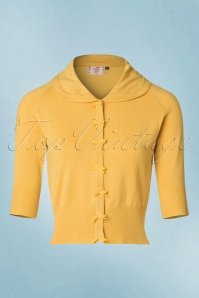 Dancing Days by Banned April Short Sleeves Cardigan in Off Yellow 140 80 19770 20160922 0008w