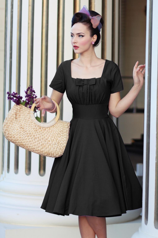 50s Debbie Swing Dress in Black