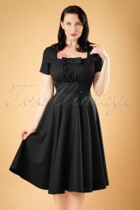Daisy Dapper Black Debbie Swing Dress 19508 20160719 1W