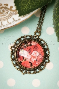 Sweet Cherry Red Roses Necklace 301 20 19944 09262016 006W