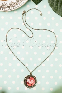 40s I Love My Bouquet of Roses Necklace