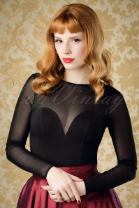 50s Morticia Top in Black
