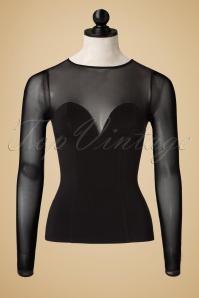 Collectif Clothing Morticia Top in Black 18863 20160602 0002pop original