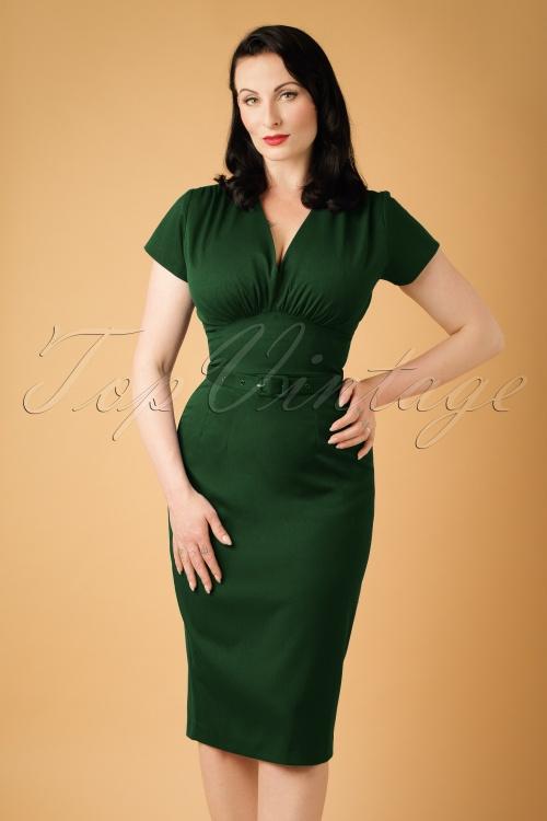 Daisy Dapper Holly Pencil Dress in Green  19513 20160719 0013w