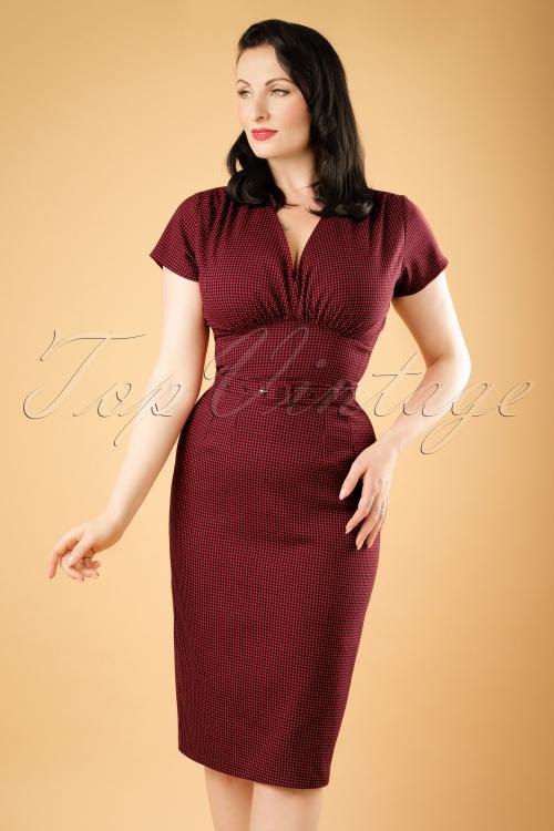 Daisy Dapper Holly Red Checked Pencil Dress 19510 20160719 0011w
