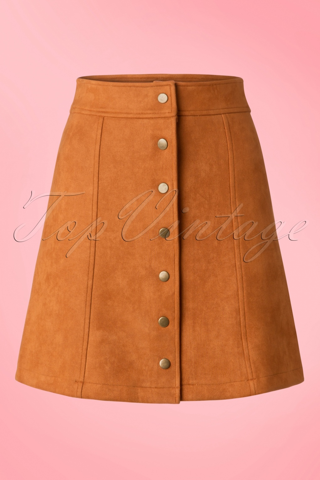 Retro Skirts: Vintage, Pencil, Circle, & Plus Sizes 70s India A-Line Skirt in Rust £33.73 AT vintagedancer.com