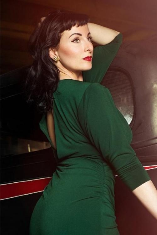 Zoe Vine 50s Marilyn Green Batwing Dress 100 20 19066 20160907 3