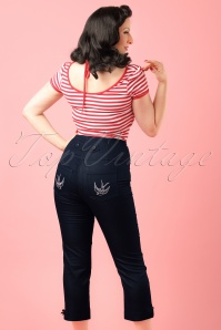 Steady Clothing High Waist Denim Pants modelfoto cropw