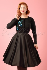 Bunny Navy Blue Swing Skirt Modelfotocropw