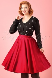 50s Paula Swing Skirt in Red