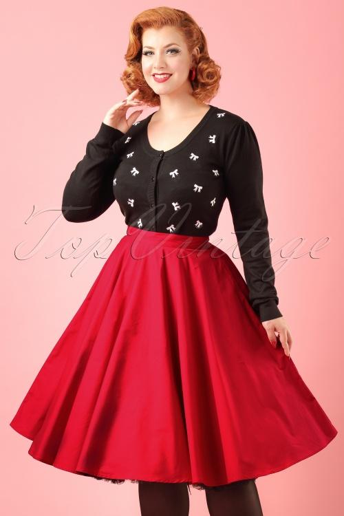 Bunny Red Swing Skirt modelfotocropw