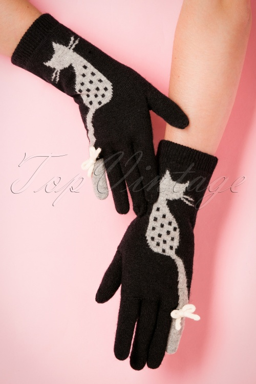 Alice Hannah Cat Jacquard Gloves 250 10 19369 09272016 009W