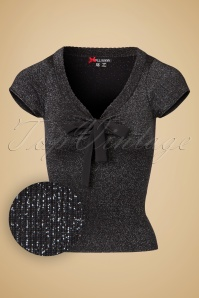 50s Angette Sparkling Top in Black