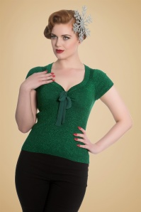 Bunny Angette Green Bow Glitter Top 113 20 19568 20160927 007
