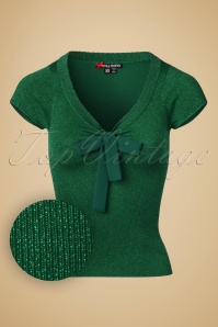 50s Angette Sparkling Top in Green