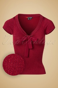 50s Angette Sparkling Top in Red