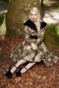 Miss Candyfloss Checked Faux Fur Winter Coat 152 79 19361 20160927 1