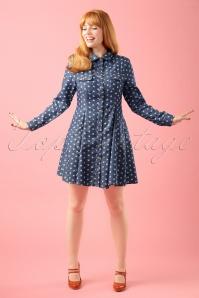 Minueto Cat Denim Dress modelfotow