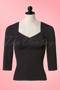 50s Asma Beth Top in Black