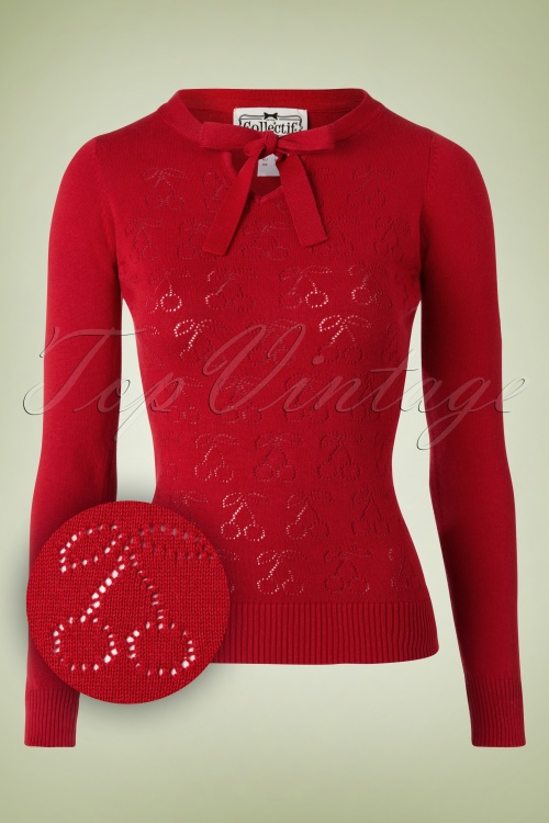 Collectif Clothing Sweet Red Beau Cherry Top 113 20 16159 20150902 003W1
