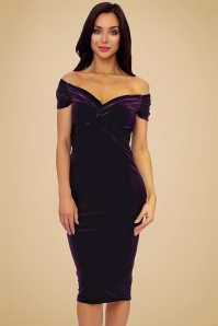 Vintage Chic Twist Bust Purple Velvet Dress 100 60 19633 20160928 2