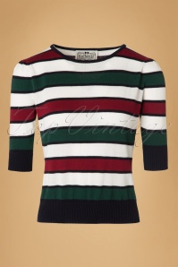 Collectif Clothing Chrissie Striped Jumper  18897 20160601 0007w