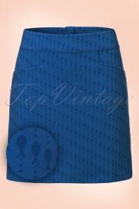 60s Flipper Famous Fish Skirt in Royal Blue